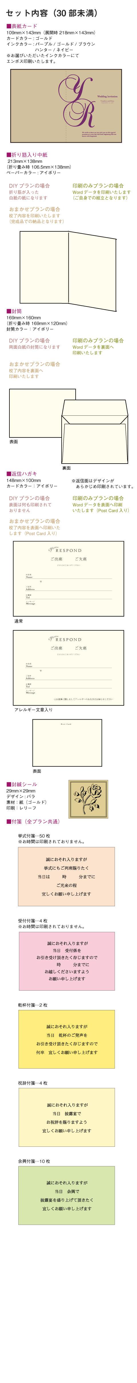 ロンドGD招待状セット内容
