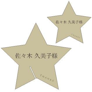 ルミナス席札【印刷込キット】